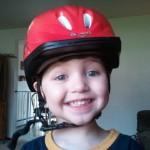Wordless Wednesday-Helmet Head