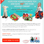 "Get a Melissa & Doug 25% Off Coupon When You Take the North ""Poll"""