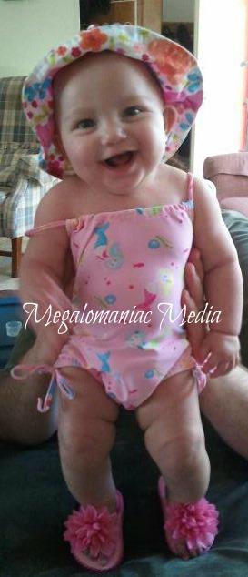 baby, swimming, beach, summer, swimsuit