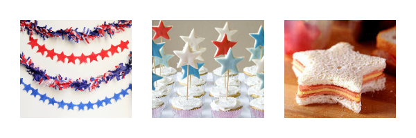 Star Party Theme, Red, White and Blue Party
