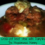 Crock-Pot Beef Stew with Dumplings {Recipe}