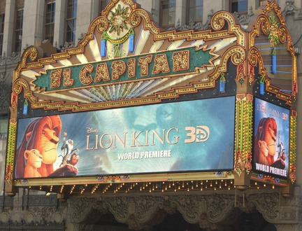 El Capitan Theater Lion King 3D World Premiere