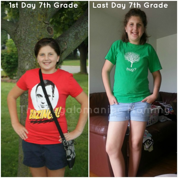 Libby 1st & Last Day of School 2012-2013