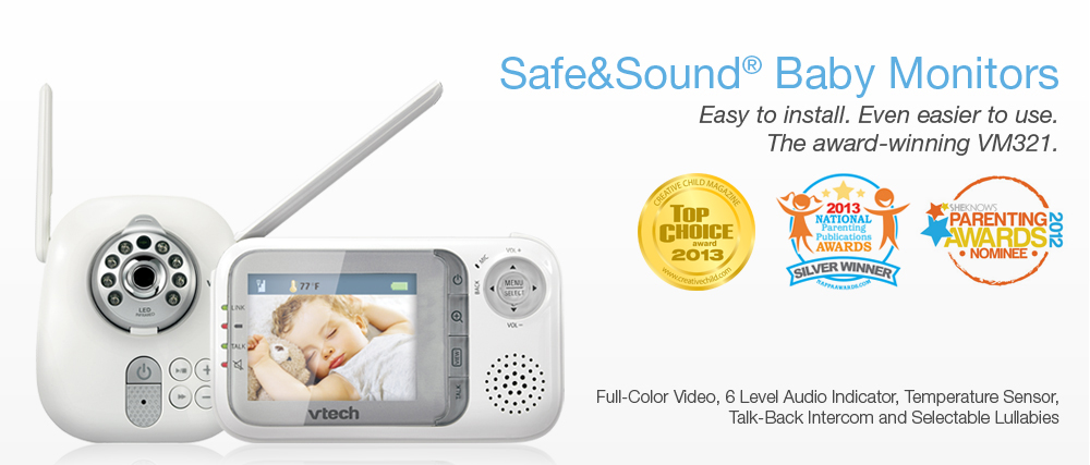 vtech safe sound video audio baby monitor review the megalomaniac mommy. Black Bedroom Furniture Sets. Home Design Ideas