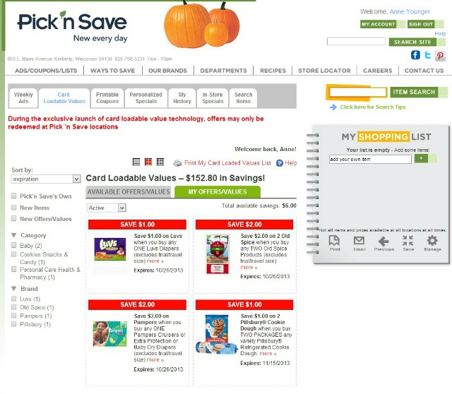#MyPicknSave Loadable Coupons #shop #cbias