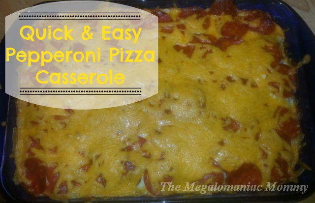 Quick & Easy Pepperoni Pizza Casserole, Recipe