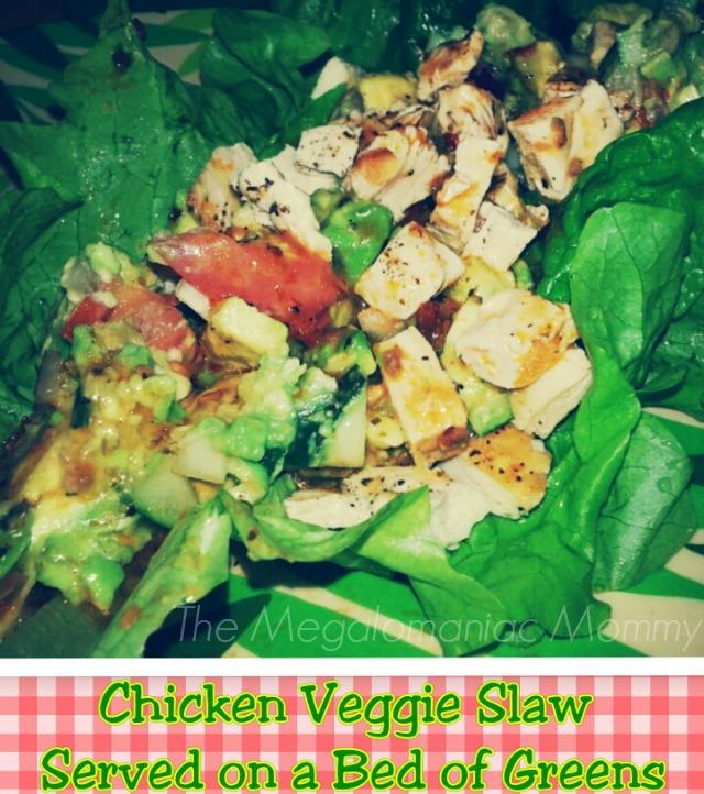 Chicken Veggie Slaw #MyPicknSave Fresh Every Day Health Key #cbias #shop