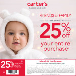 Save Big with the Carter's Friends & Family Event Now thru 12/24 {Coupon Inside}