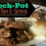 Crock-Pot Beef Tips & Gravy