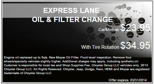 Kolosso of Appleton Express Lane Oil & Filter Change Coupon