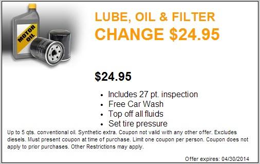 Lube, Oil and Filter Change Coupon Keyser Chrysler Sauk City Wisconsin