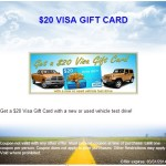 $20 Visa Gift Card with Test Drive at Lynch Chrysler Jeep Dodge – East Troy WI