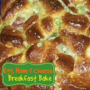Egg, Ham & Cheese Breakfast Bake {Recipe}