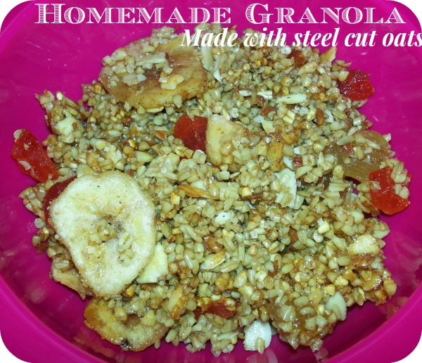 Homemade Granola with Steel Cut Oats