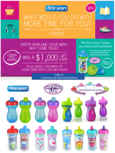 "The First Years ""What Would You Do With More Time For You"" Facebook Contest – Ends 4/30"