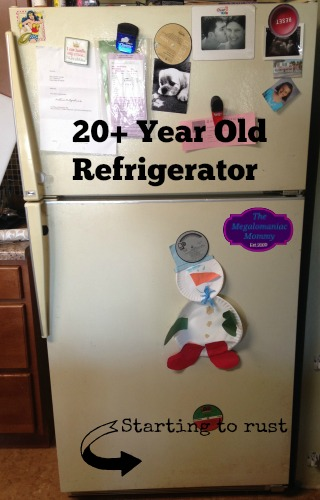 20 + Year Old Refrigerator Before