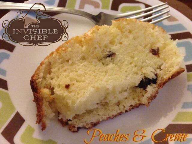The Invisible Chef Peaches & Creme Coffee & Tea Cake
