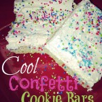 Cool Confetti Cookie Bars { #Recipe}