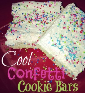 Cool Confetti Cookie Bars { #Recipe}