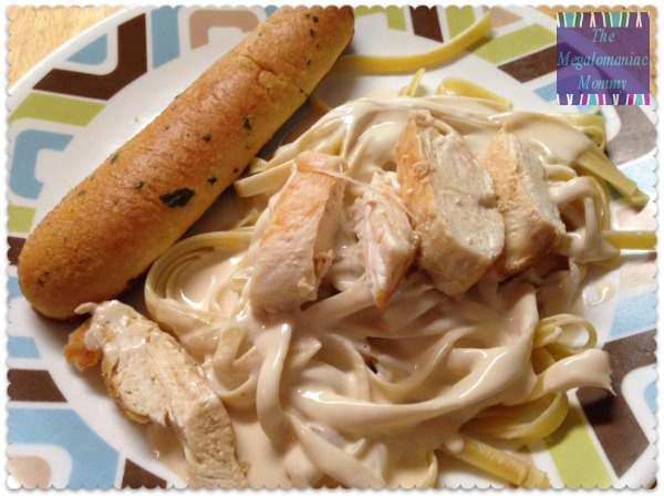 Chicken fettuccine alfredo with Wildtree Garlic Grapeseed Oil