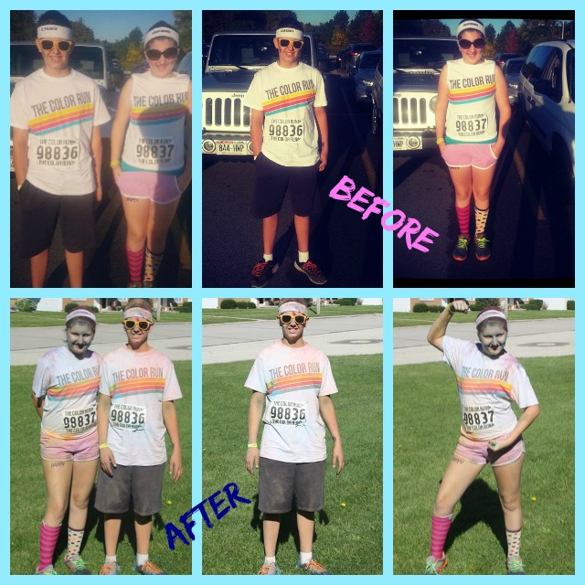 The Color Run 2013 Before and After