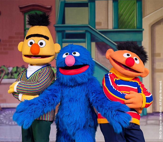 Bert, Ernie, Grover Sesame Street Live:  Let's Dance