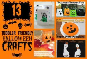 13 Toddler Friendly Halloween Crafts