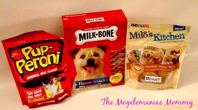 Big Heart Brands Pup-Peroni, Milk Bone Flavor Snacks, Milo's Kitchen Chicken Jerky Sticks, #TreatThePups