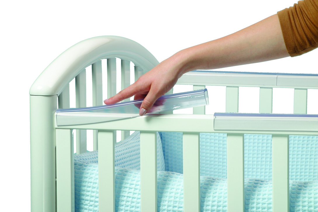 Prince Lionheart Crib Rail Protector in Use