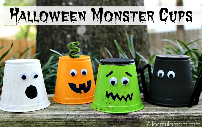 Halloween Monster Cups from Formula Mom