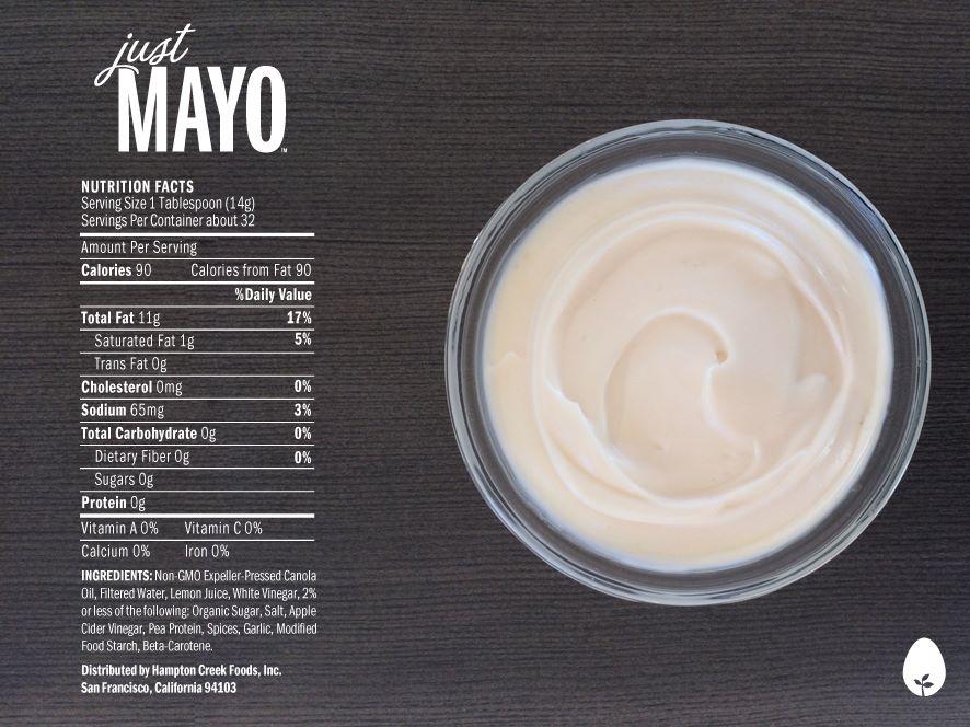 Just Mayo Ingredients Hampton Creek