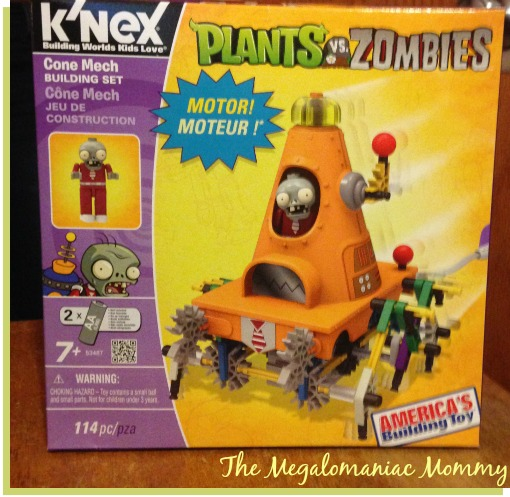 K'NEX Plants VS Zombies Cone Mech Building Set