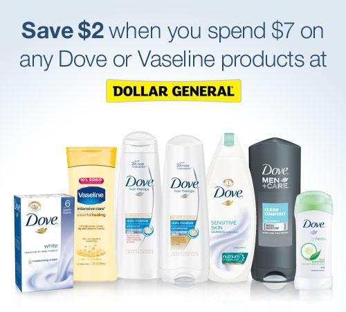 Dove Vaseline Dollar General #DGFeelBeautifulFor