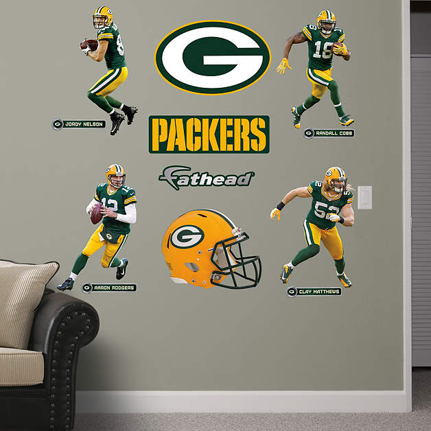 Fathead Green Bay Packers Power Pack