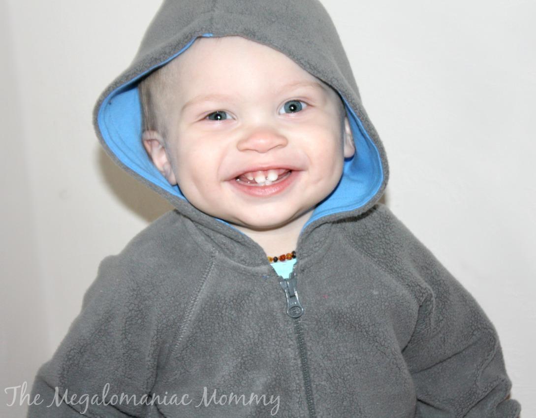 Zutano Gray Cozie Baby Contrast Hoodie