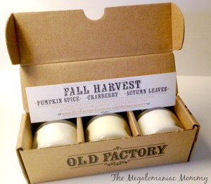 Seasonal Scents from Old Factory Candles