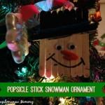 Popsicle Stick Snowman Christmas Ornament