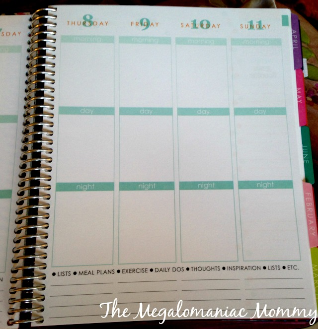 Erin Condren Life Planner Weekly Layout