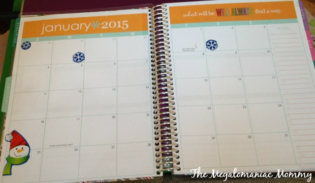 Erin Condren Monthly Layout Design