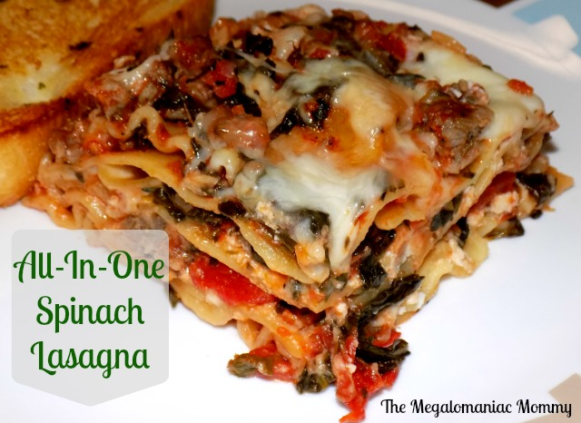 All-In-One Spinach Lasagna Red Gold #RedGoldRecipes #Lasagna