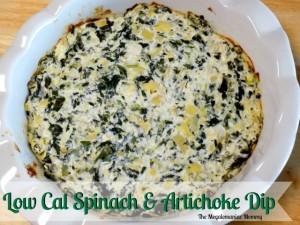 Low Cal Spinach & Artichoke Dip { Recipe }