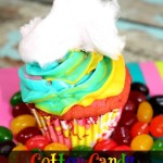 Cotton Candy Rainbow Cupcakes {Recipe}
