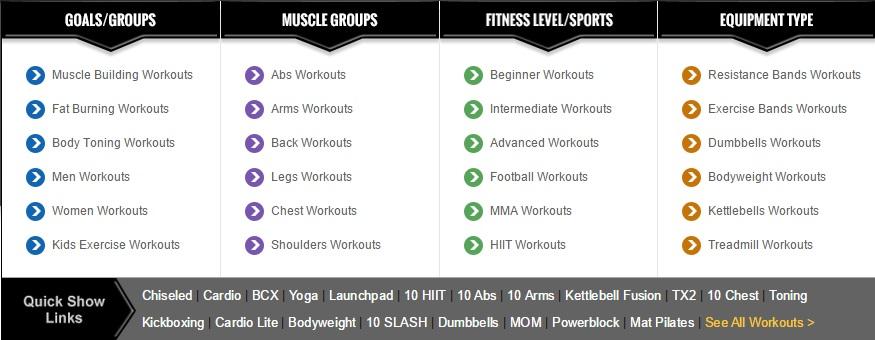 LiveExercise.com Workouts