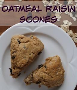 Oatmeal Raisin Scones {Recipe}