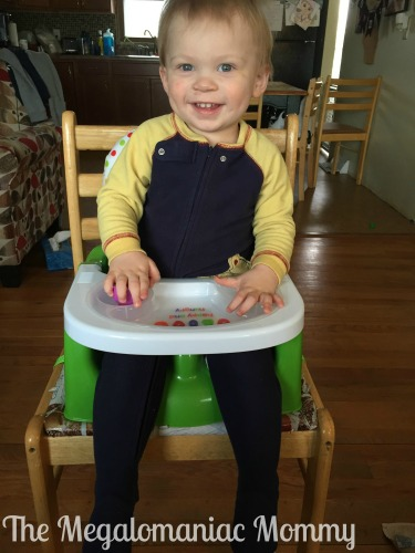 The Very Hungry Caterpillar Happy & Hungry Booster Seat In Use