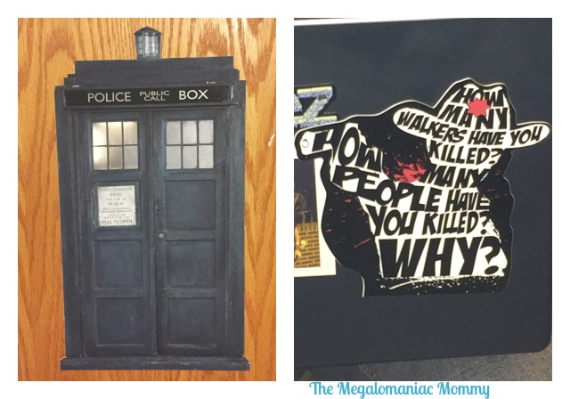 13Deals.com Doctor Who Tardis Wall Cling Mini and The Walking Dead 3 Questions Vinyl Decal