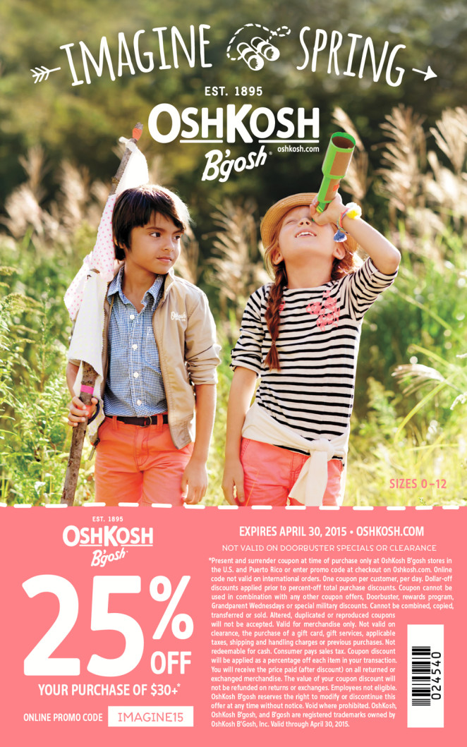 OshKosh B'gosh 25% OFF Coupon