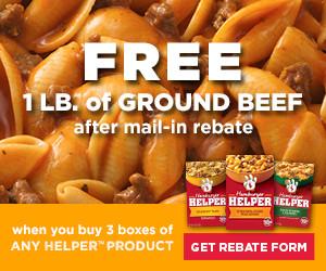 #FreeBeef When You Buy Hamburger Helper
