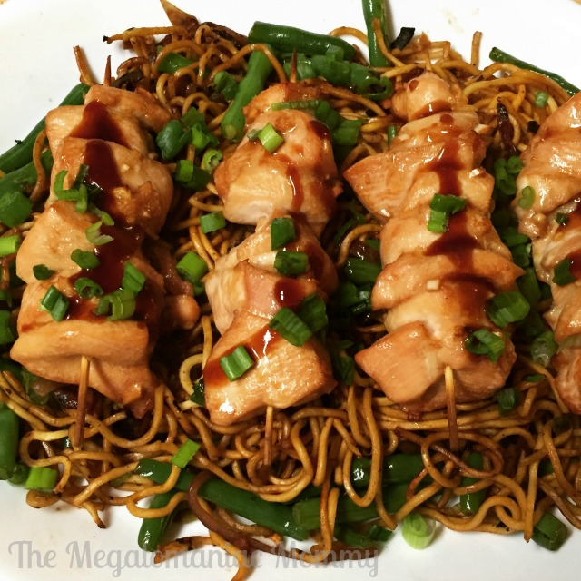 Hello Fresh Chicken Yakitori with Crispy Chuka Soba Stir-Fry.