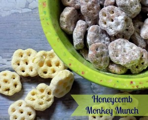 Celebrate Breakfast with Honeycomb Monkey Munch